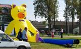 Der gelbe Bär blickt auf den sehr ruhigen See!!!!!!!!!